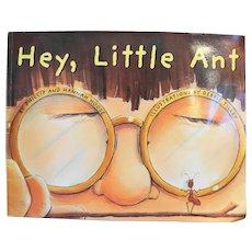 Hey, Little Ant Paperback Scholastic 1999 Phillip Hannah Hoose