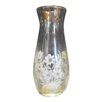 Clear Glass Vase White Flowers Decal