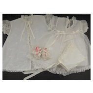 Vintage Christening Dress Set 1950s