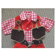 1950s Roy Rogers Shirt With Chaps and Vest