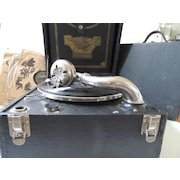 Cecilian Phonograph And Brunswick Record Carry Case