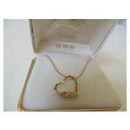 10K Gold Black Hills Heart Pendant By Stamper And 14K Chain Italy