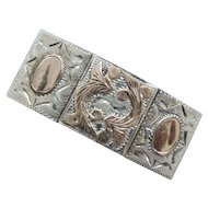 Sterling Silver Mexico Belt Buckle