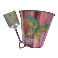 Vintage Chein Sand Pail And Shovel