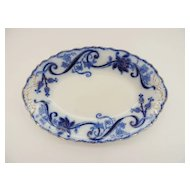 Flow Blue Relish Plate Johnson Brothers England