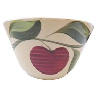 Watt Pottery 3 Leaf Apple Bowl