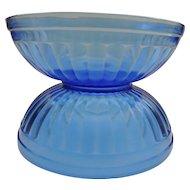 Hazel Atlas Aurora Cobalt Cereal Bowls
