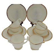 Anchor Hocking Fire King Swirl 4 Place Setting