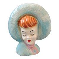 Glamour Gal Head Vase Wall Pocket