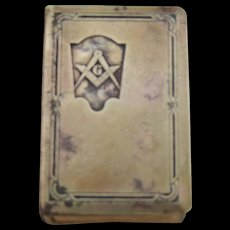Vintage Masonic Match Holder - Red Tag Sale Item
