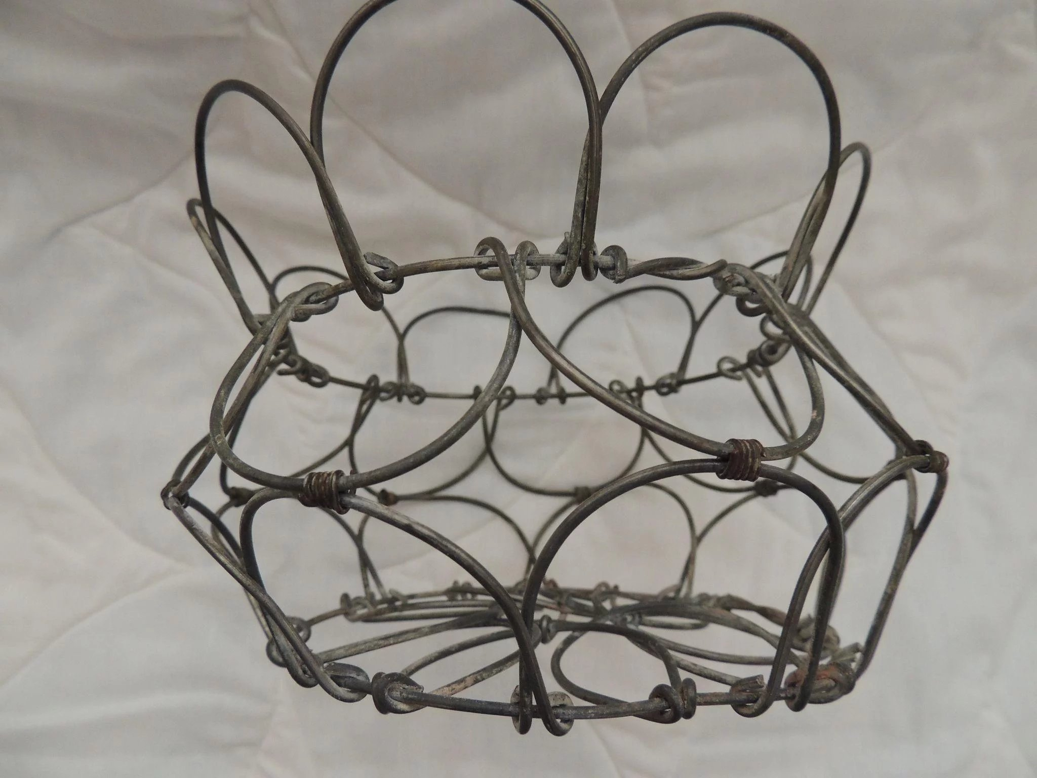 Vintage Wire Egg Basket : Hand To Heart Antiques   Ruby Lane