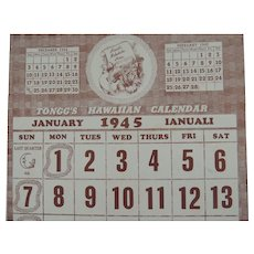 1945 Tongg's Hawaiian Calendar