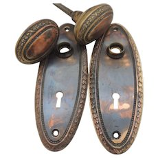 Vintage Door Knobs and Back Plates