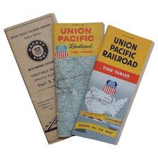 3 Union Pacific Railroad Time Tables