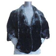Vintage Fur Cape Capelet Jacket