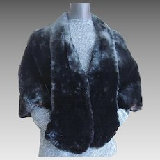 Vintage Fur Cape Capelet Jacket