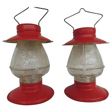 Vintage Glass Candy Containers Lanterns