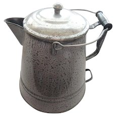 Large Enamelware Coffee Pot Graniteware