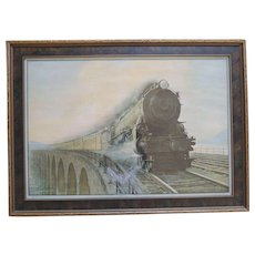 Harold M. Brett Pennsylvania Railroad Framed Print Speed and Security