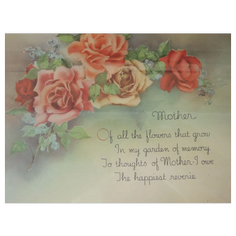 Reliance Frame Company Mother Motto Print