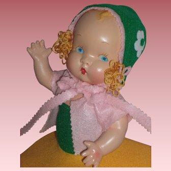 "Beautiful HTF c1937 Harriet Flanders - Little 12"" Cherub Composition Doll"