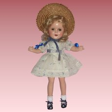 """HTF - 13"""" Ideal Ginger Doll with Wonderful Original Outfit c1930's"""