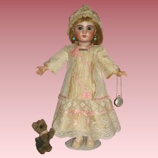 Stunning c1907 Tete Jumeau Doll - Size 6 in One of a Kind Costume!
