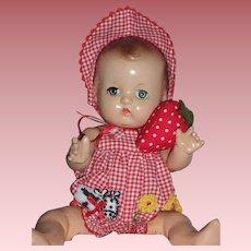 "1930-40s Effanbee Patsy 9"" Baby Doll in Newer Effanbee Costume"