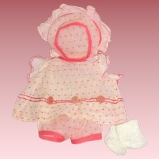 """Very Rare - 1920's - 1930's Complete Petit Sally Outfit for 11 to 12"""" Composition Doll"""