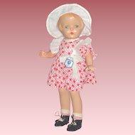 "1920's 17"" Composition E.I. Horsman Jane Doll in Original Costume"