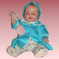 "1930's 18"" Happy Baby Doll - Mama Doll Type - Unmarked (AS-IS)"