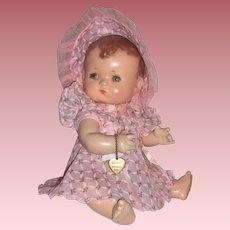 1930's Effanbee Patsykins 11'' Straight Leg Baby Doll w/Accessories