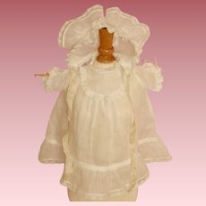 Beautiful Factory Original Dress & Bonnet for Composition Baby Dolls