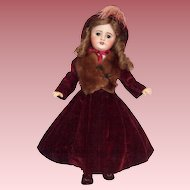 """Beautiful S.F.B.J 17"""" French Bisque Head Doll in Fabulous Costume"""