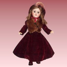 """Beautiful S.F.B.J 19"""" French Bisque Head Doll in Fabulous Costume"""