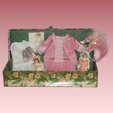 Vintage Celluloid Box with Doll Accessories for your Doll