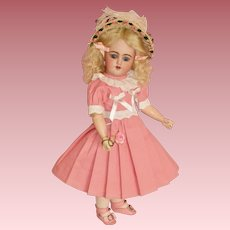 "Darling Petite 12"" Simon & Halbig Santa, DEP Mold - All in Pink"