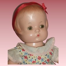 "Precious 13"" Patsy Doll With Original Dress, Bonnet & Hang Tag"