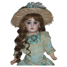 Fabulous Size 6 Tete Jumeau Doll in Vintage French Style Costume - Red Tag Sale Item