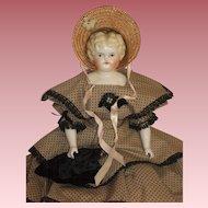 "Classy 19"" Hertwig Lowbrow China Head Doll - c1900"