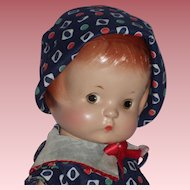 """13"""" 1940's Effanbee Patsy Doll with Painted Side Glancing Eyes"""