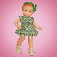 "Darling 13"" 1930's Effanbee Patsy Doll - Ready for Saint Patrick's Day Celebration!"