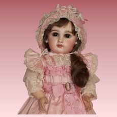 Stunning SZ 6 DEPOSE Tete Jumeau Doll with Closed Mouth