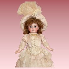 Darling Little Cabinet Size 6 Tete Jumeau in Couture Costume