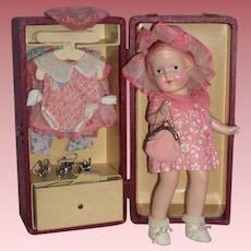 "Darling 12"" Arranbee ""Nancy"" Doll - All Original Trunk & Accessories"