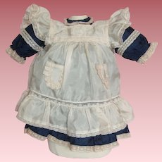Darling Silk Outfit for German or French Bisque Head Doll