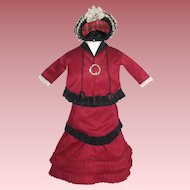 Great 4-piece Outfit for China Head or Bisque Head Dolls