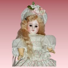 Sweet Cabinet Size AM/DEP Bisque Head Doll from c1894