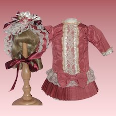 Lovely French Costume for Bisque Head Dolls
