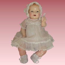 "Big Fat Happy 25"" Composition Baby Doll c1920's to early 1930's with Original Costume"